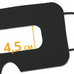Disposable VR Hygiene Face Mask/Eye mask, Black, Universal - SuperMask